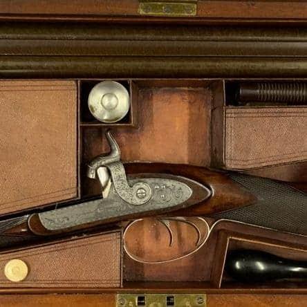 Cased 14 Bore Shotgun by Maclauchlan of Edinburgh