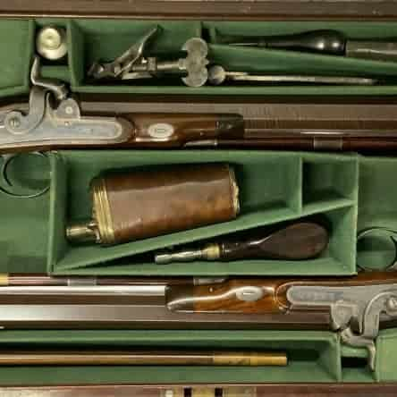 Cased pair of Joseph Manton Percussion Duelling Pistols
