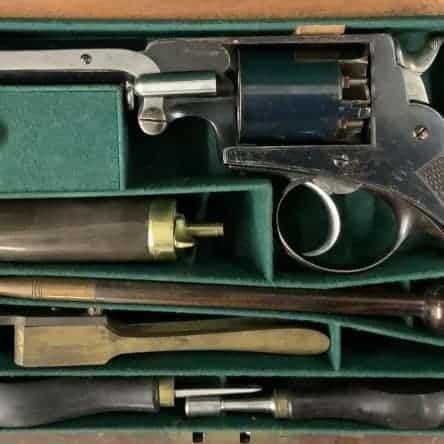 Cased 54 Bore Adams Revolver