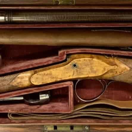 Cased 15 Bore Shotgun by Clark of London